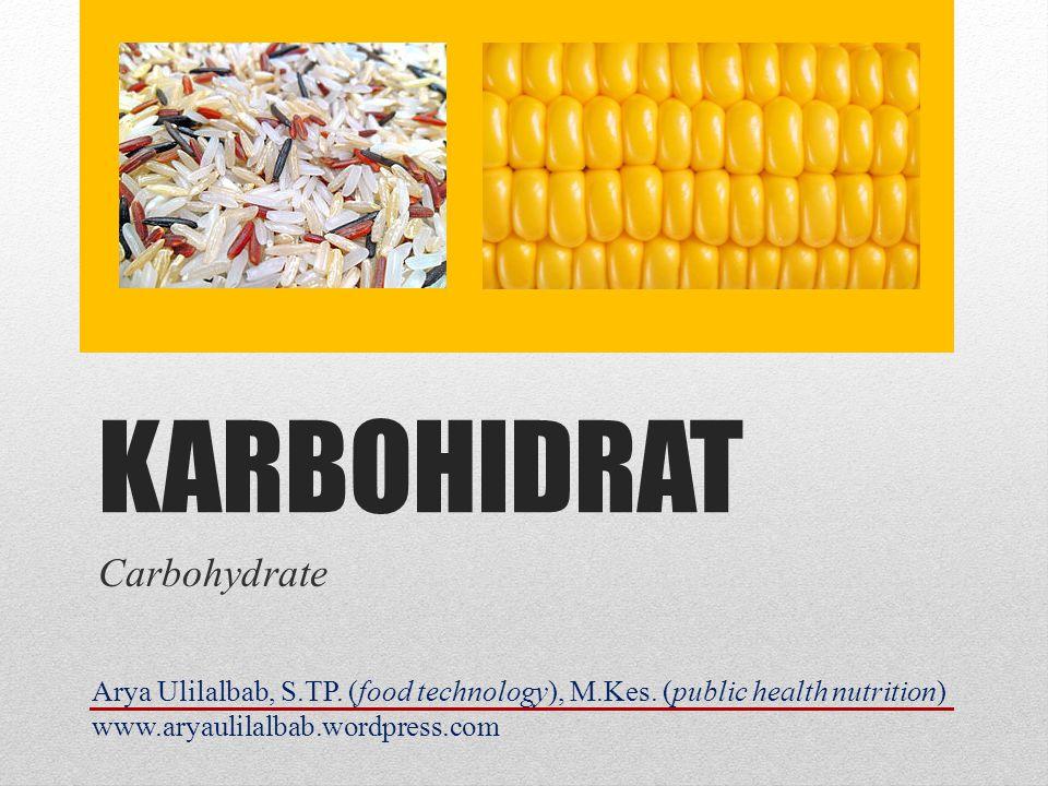 KARBOHIDRAT Carbohydrate