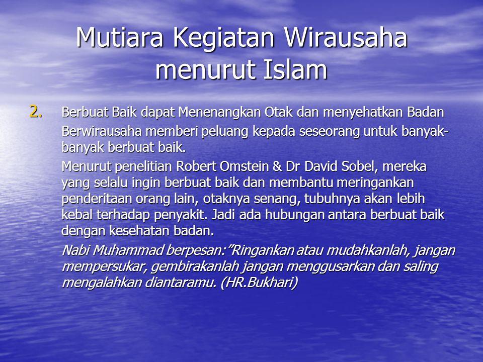 Mutiara Kegiatan Wirausaha menurut Islam