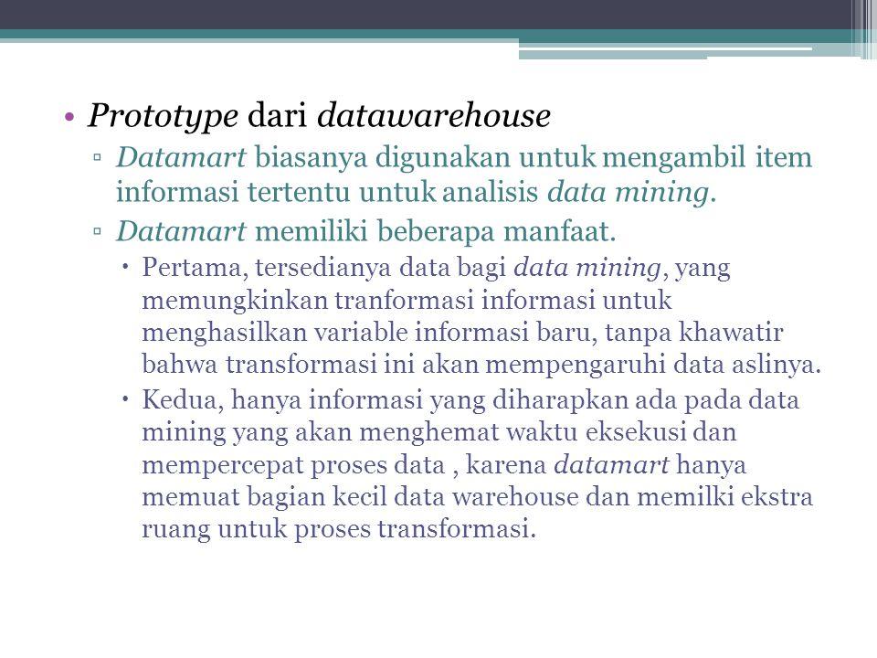 Prototype dari datawarehouse