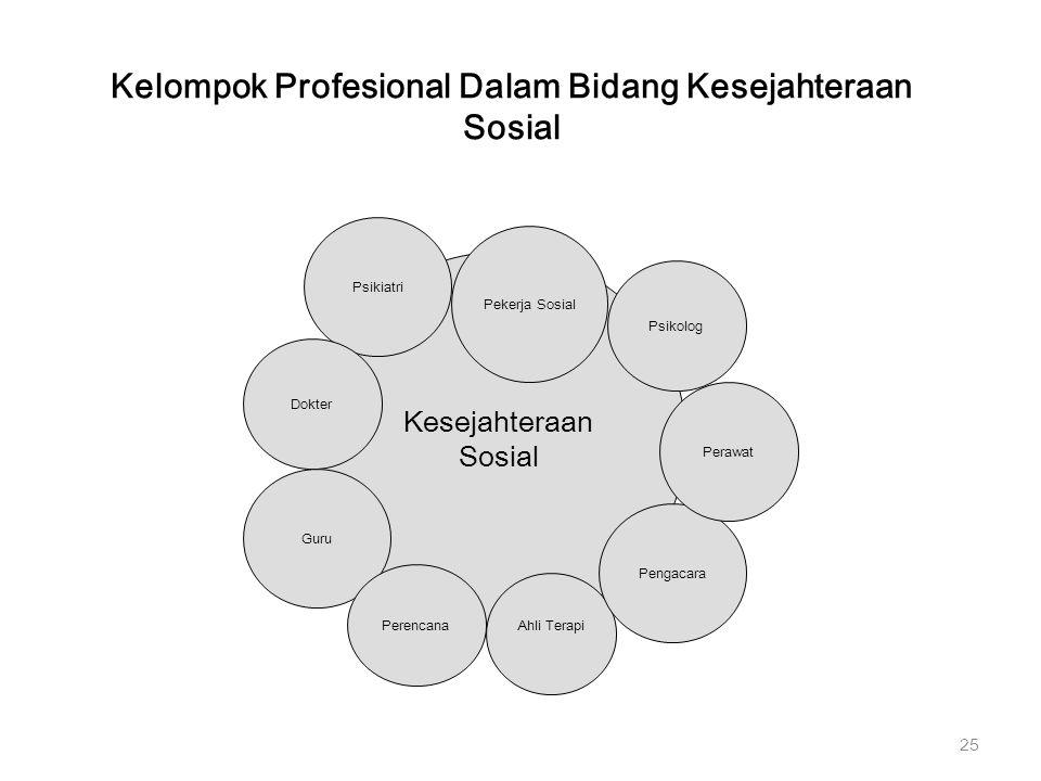 Kelompok Profesional Dalam Bidang Kesejahteraan Sosial