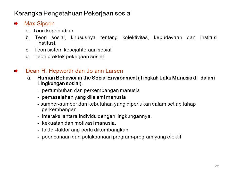Kerangka Pengetahuan Pekerjaan sosial