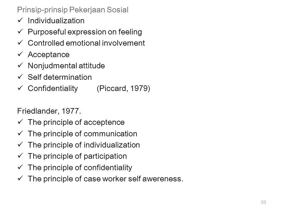 Prinsip-prinsip Pekerjaan Sosial