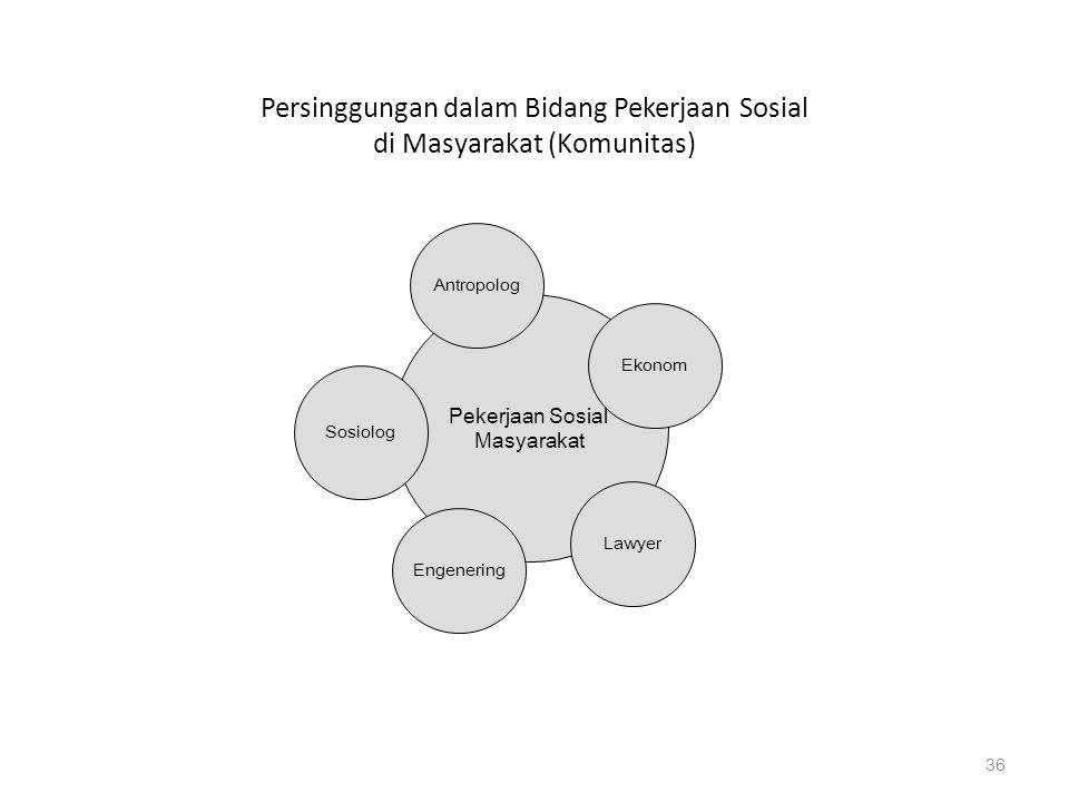 Persinggungan dalam Bidang Pekerjaan Sosial di Masyarakat (Komunitas)