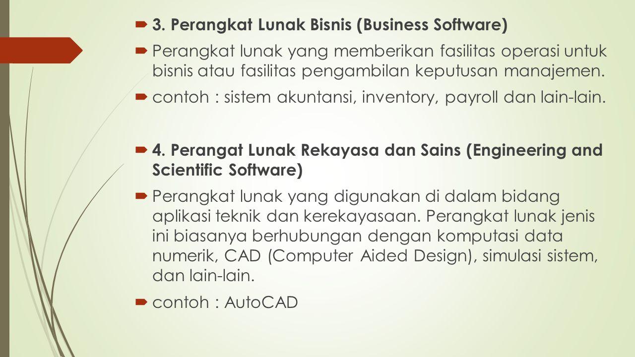 3. Perangkat Lunak Bisnis (Business Software)