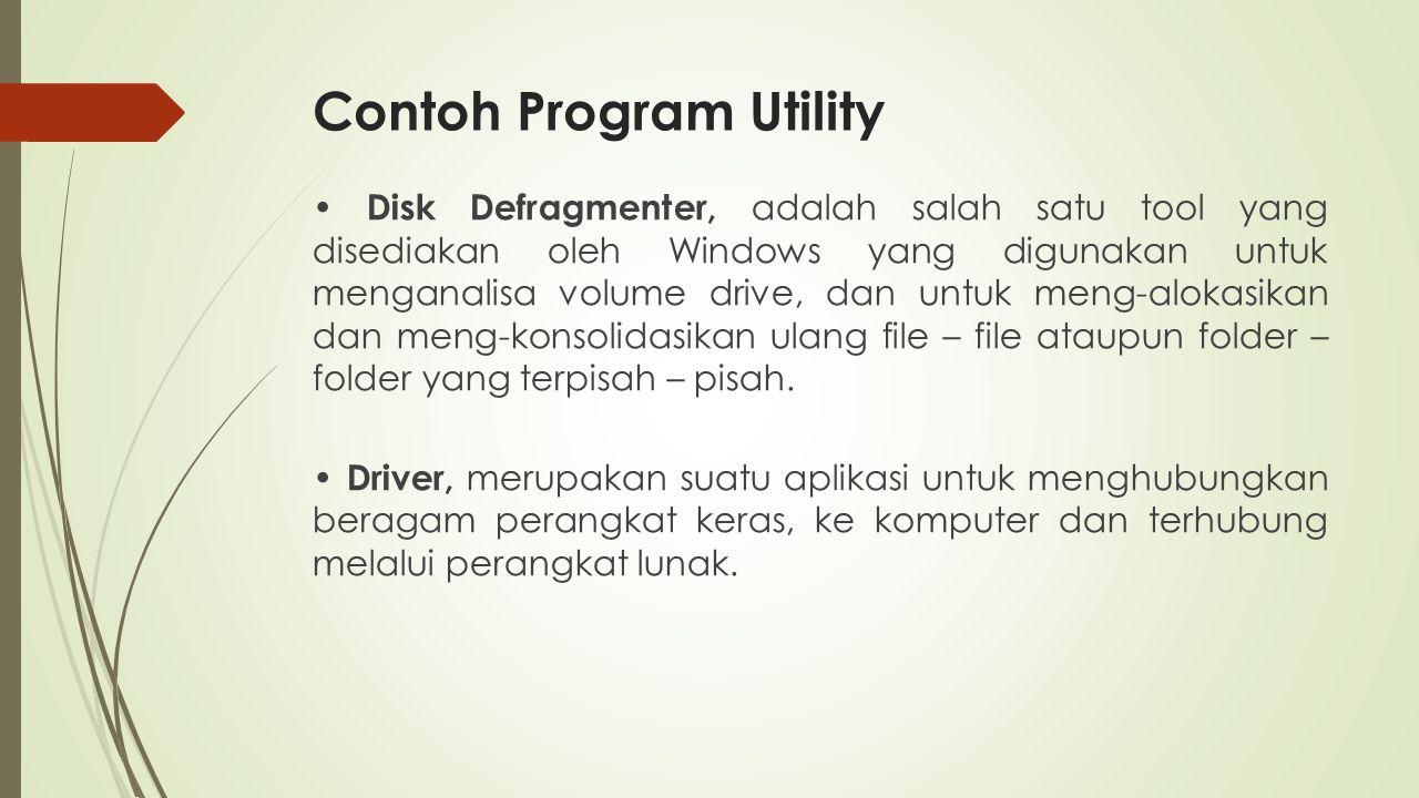 Contoh Program Utility