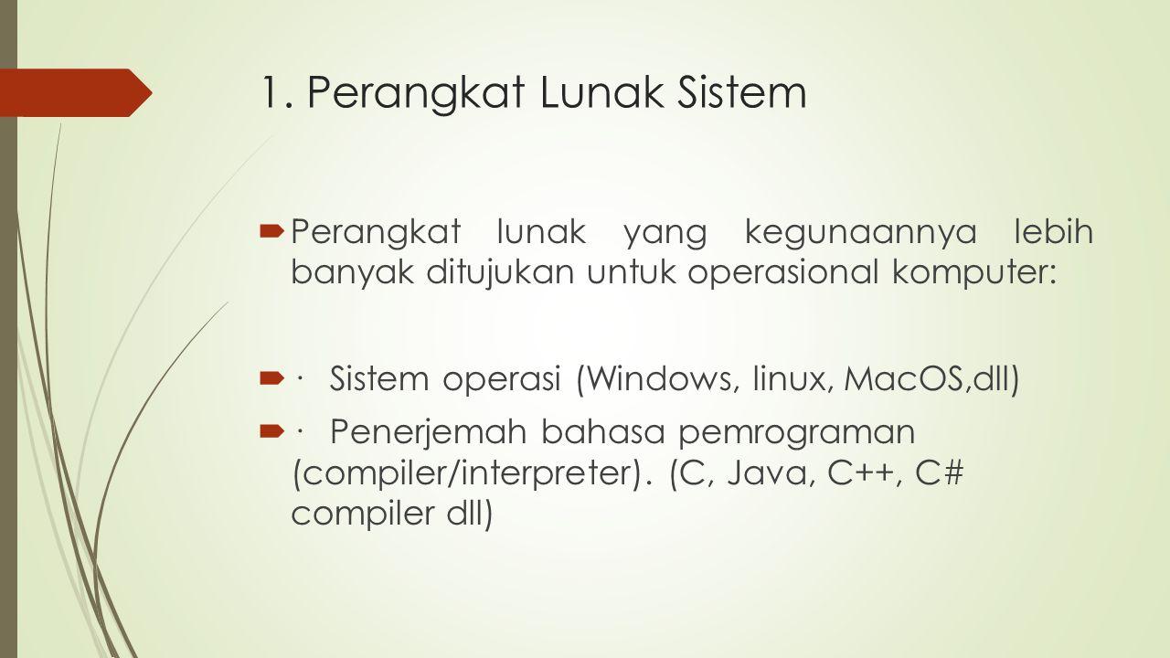 1. Perangkat Lunak Sistem
