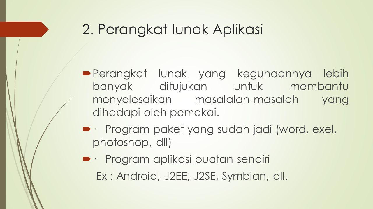 2. Perangkat lunak Aplikasi