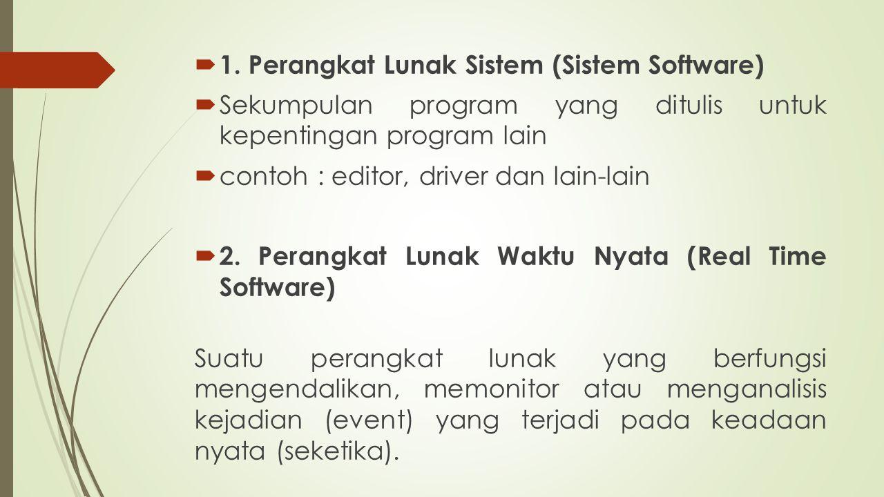 1. Perangkat Lunak Sistem (Sistem Software)