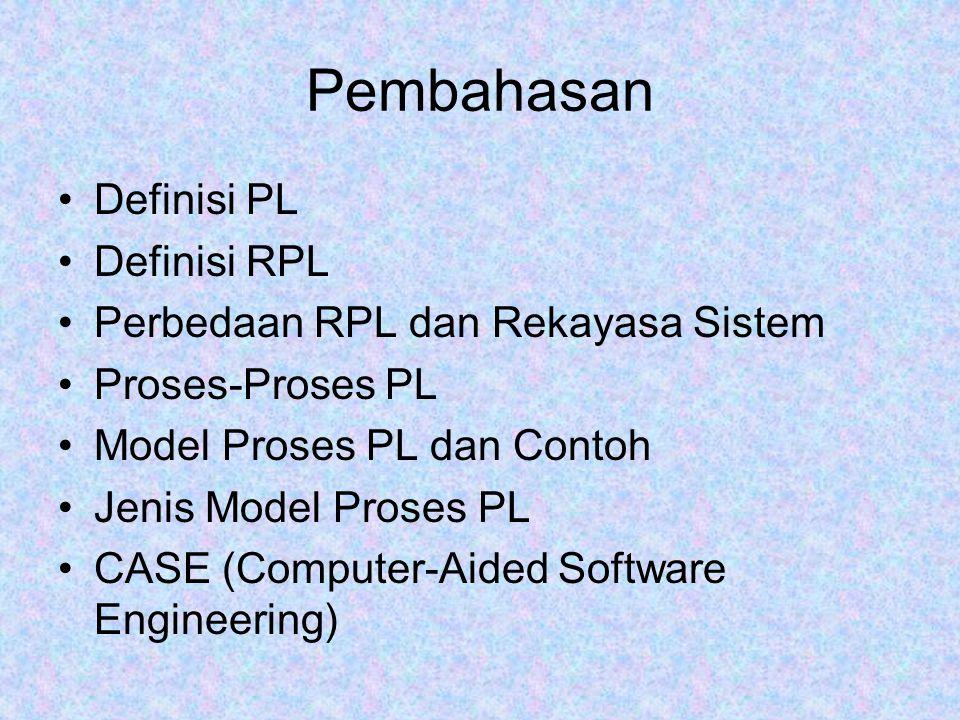 Pembahasan Definisi PL Definisi RPL Perbedaan RPL dan Rekayasa Sistem