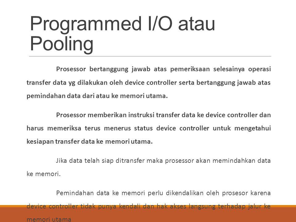 Programmed I/O atau Pooling