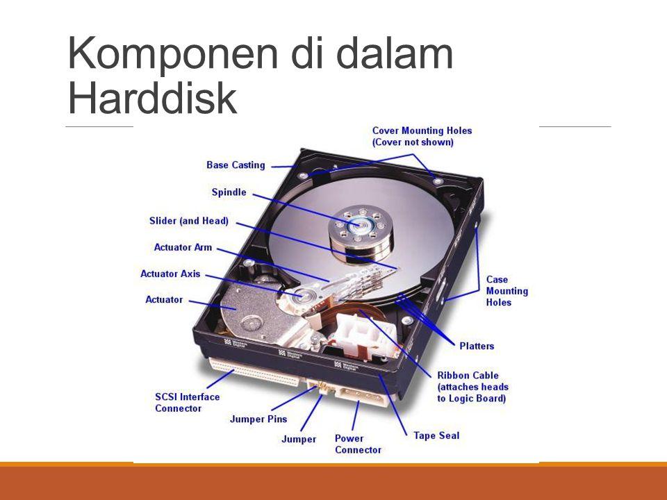 Komponen di dalam Harddisk