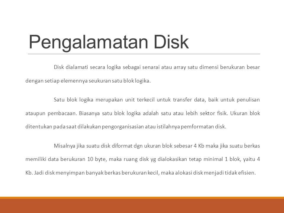 Pengalamatan Disk
