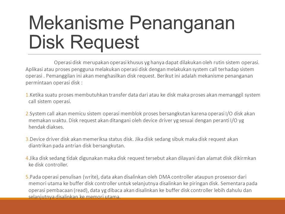 Mekanisme Penanganan Disk Request