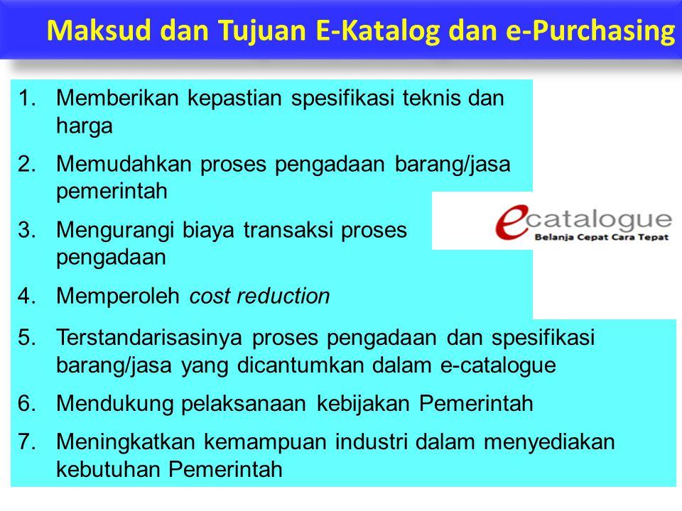 Maksud dan Tujuan E-Katalog dan e-Purchasing