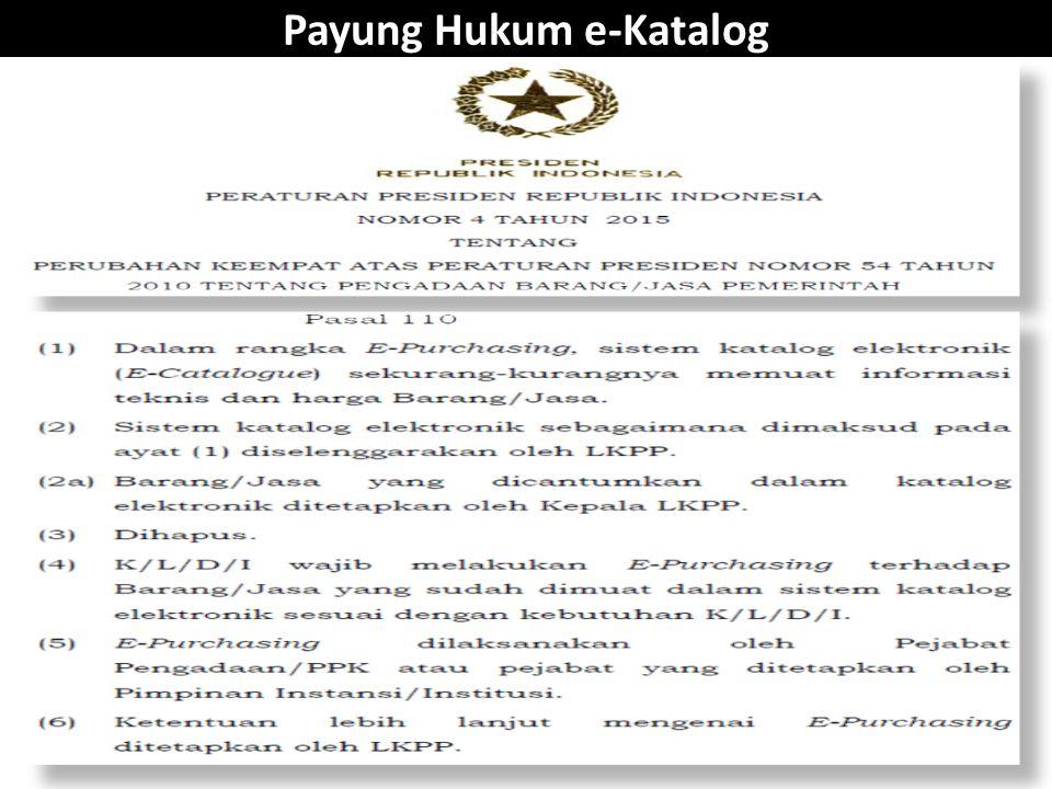 Payung Hukum e-Katalog