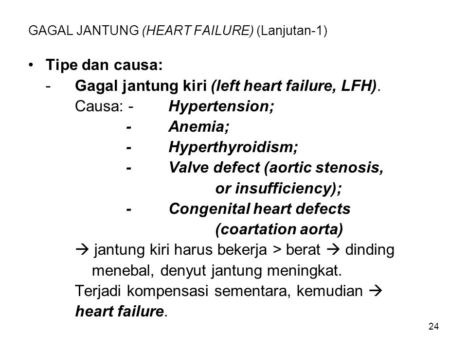 GAGAL JANTUNG (HEART FAILURE) (Lanjutan-1)