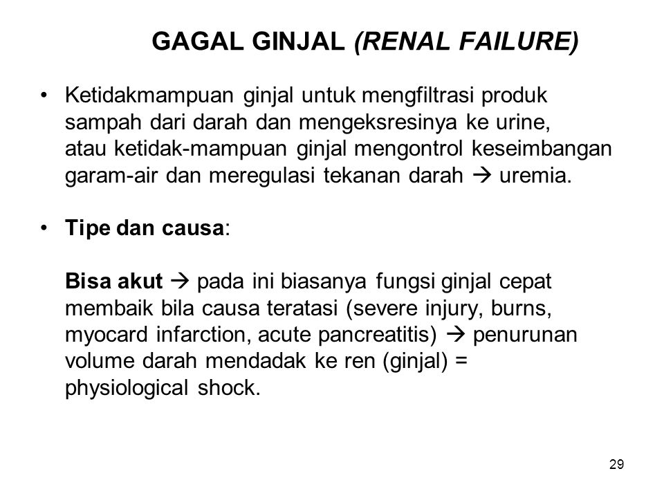 GAGAL GINJAL (RENAL FAILURE)
