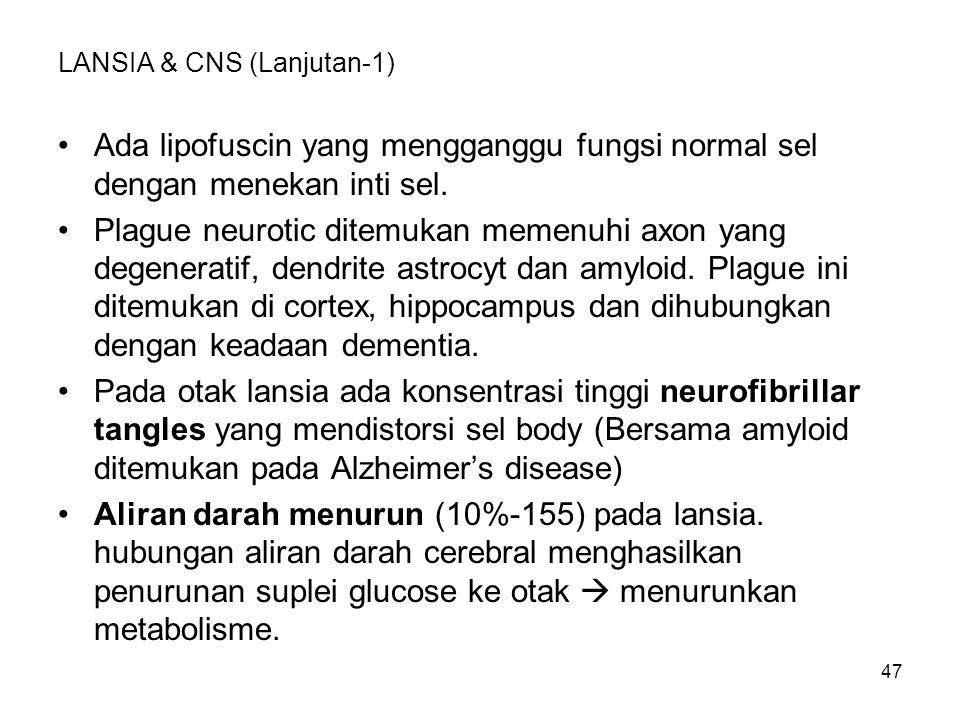 LANSIA & CNS (Lanjutan-1)