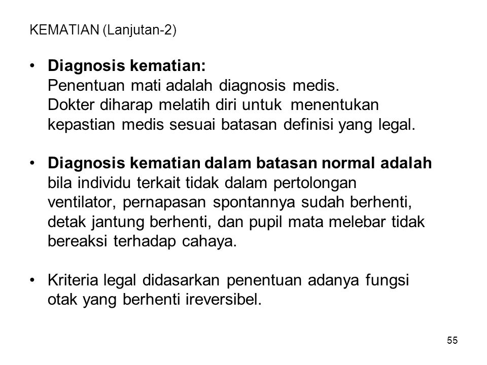 Penentuan mati adalah diagnosis medis.
