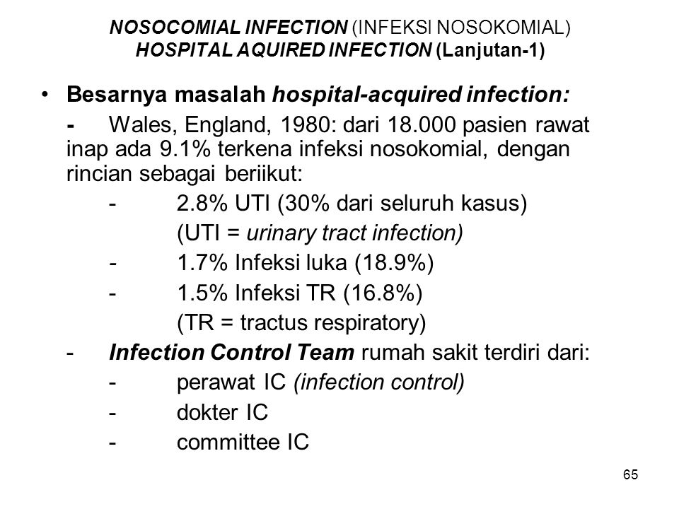 Besarnya masalah hospital-acquired infection: