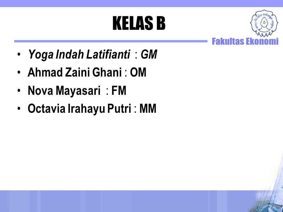 KELAS B Yoga Indah Latifianti : GM Ahmad Zaini Ghani : OM