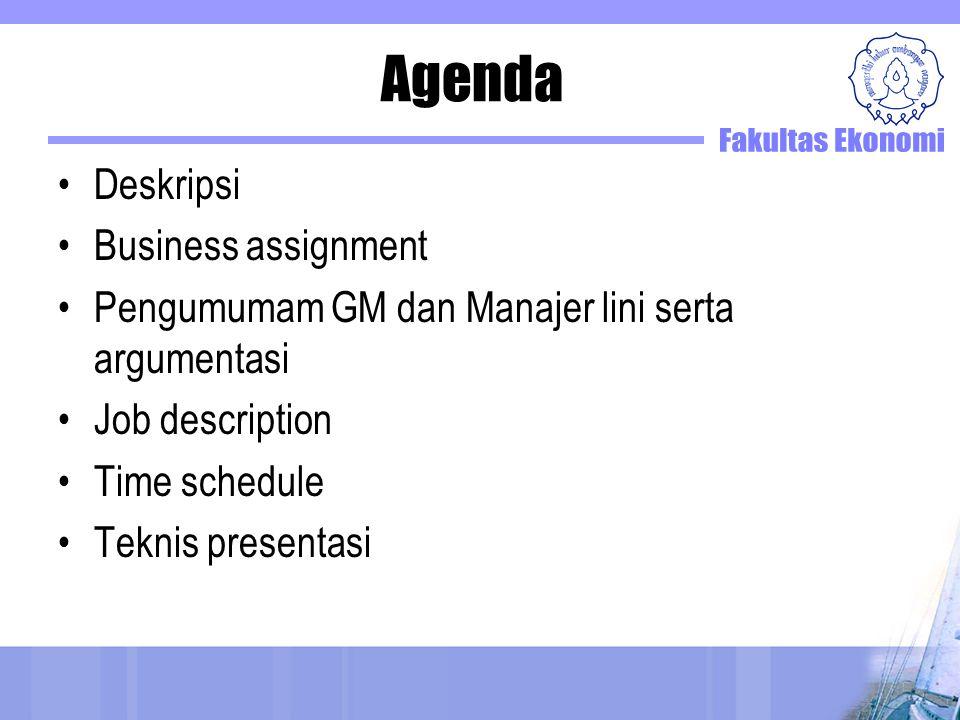 Agenda Deskripsi Business assignment