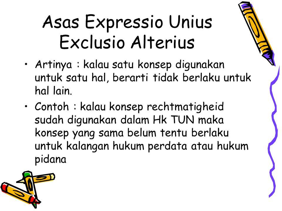 Asas Expressio Unius Exclusio Alterius