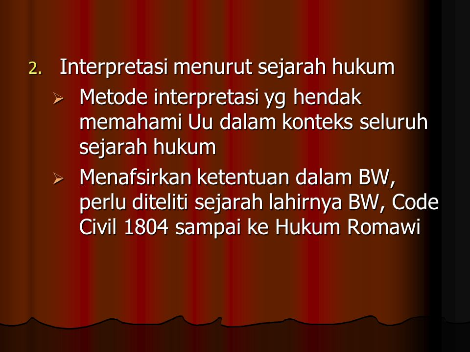 Interpretasi menurut sejarah hukum