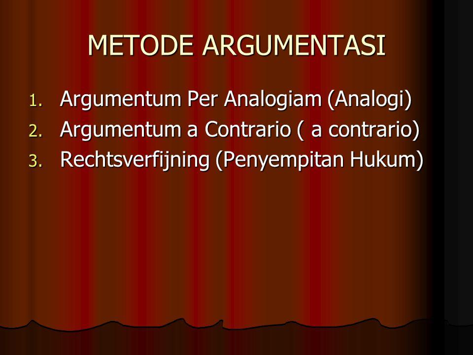 METODE ARGUMENTASI Argumentum Per Analogiam (Analogi)