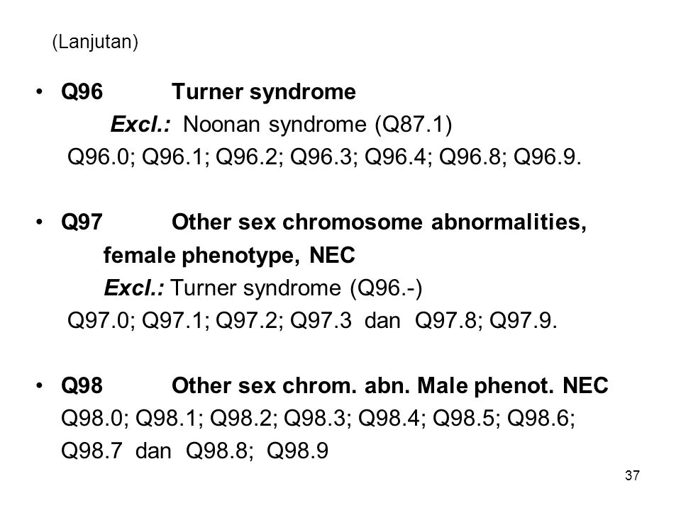 Excl.: Noonan syndrome (Q87.1)