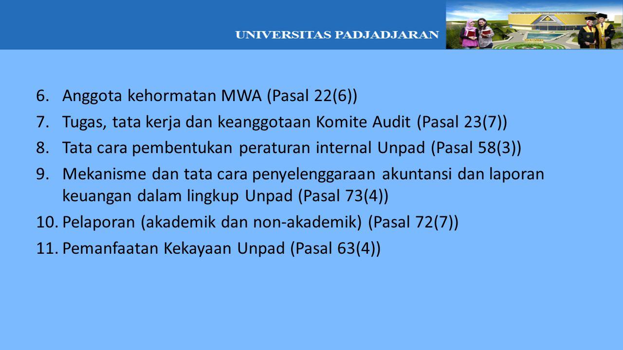 Anggota kehormatan MWA (Pasal 22(6))