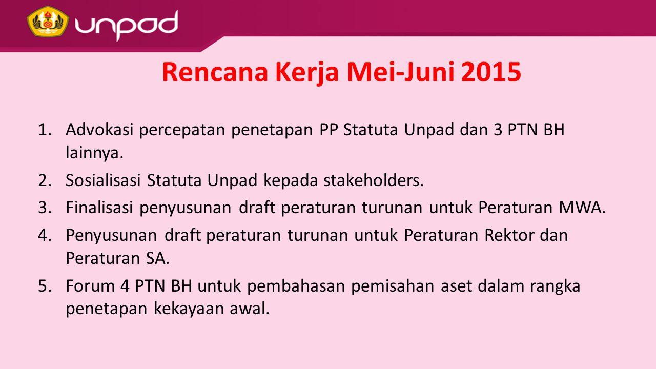 Rencana Kerja Mei-Juni 2015