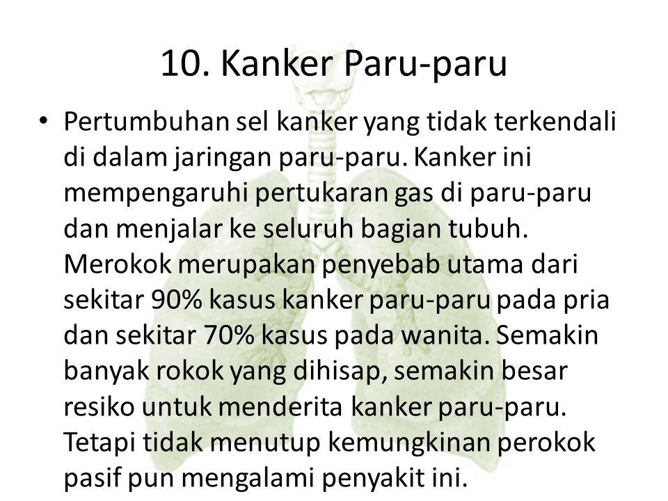 10. Kanker Paru-paru