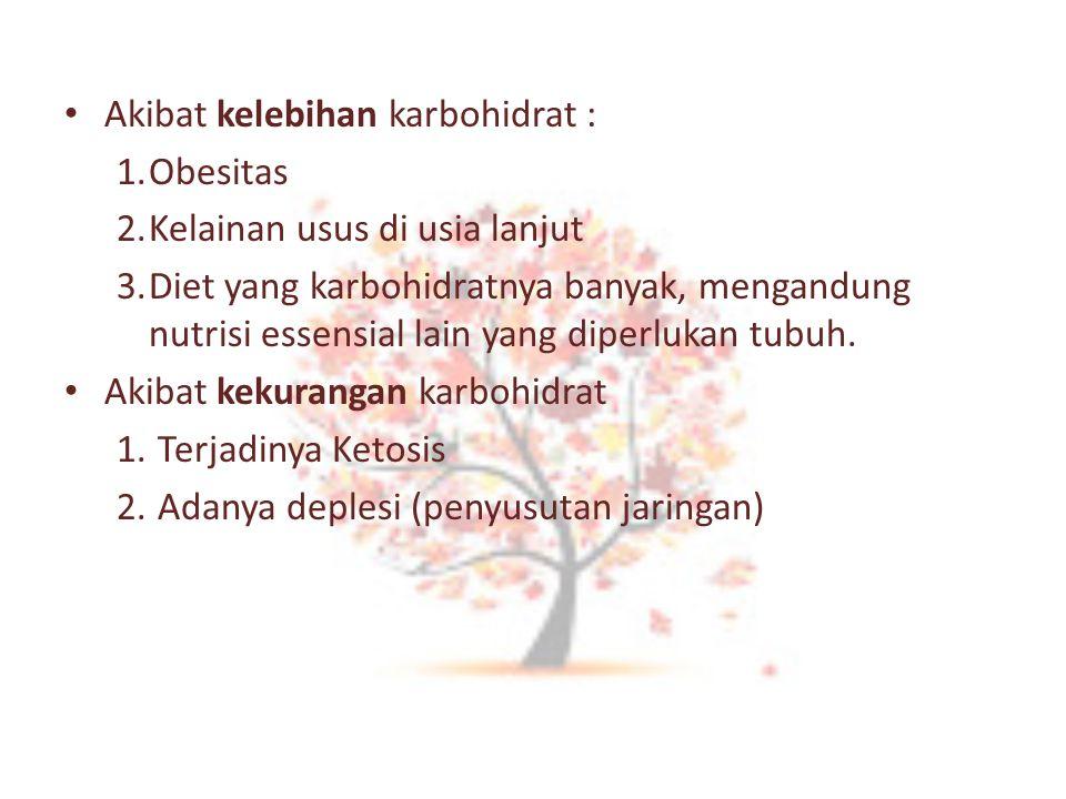 Akibat kelebihan karbohidrat :