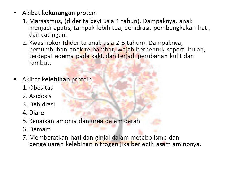 Akibat kekurangan protein