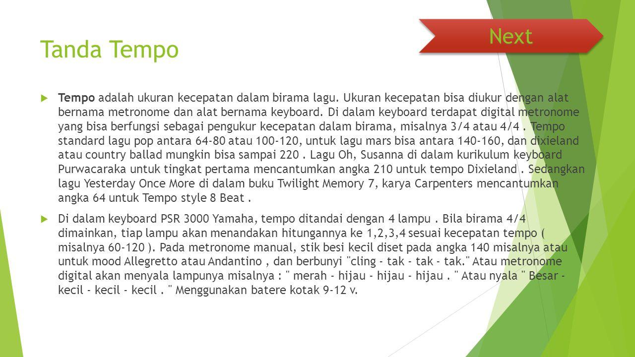 Next Tanda Tempo.