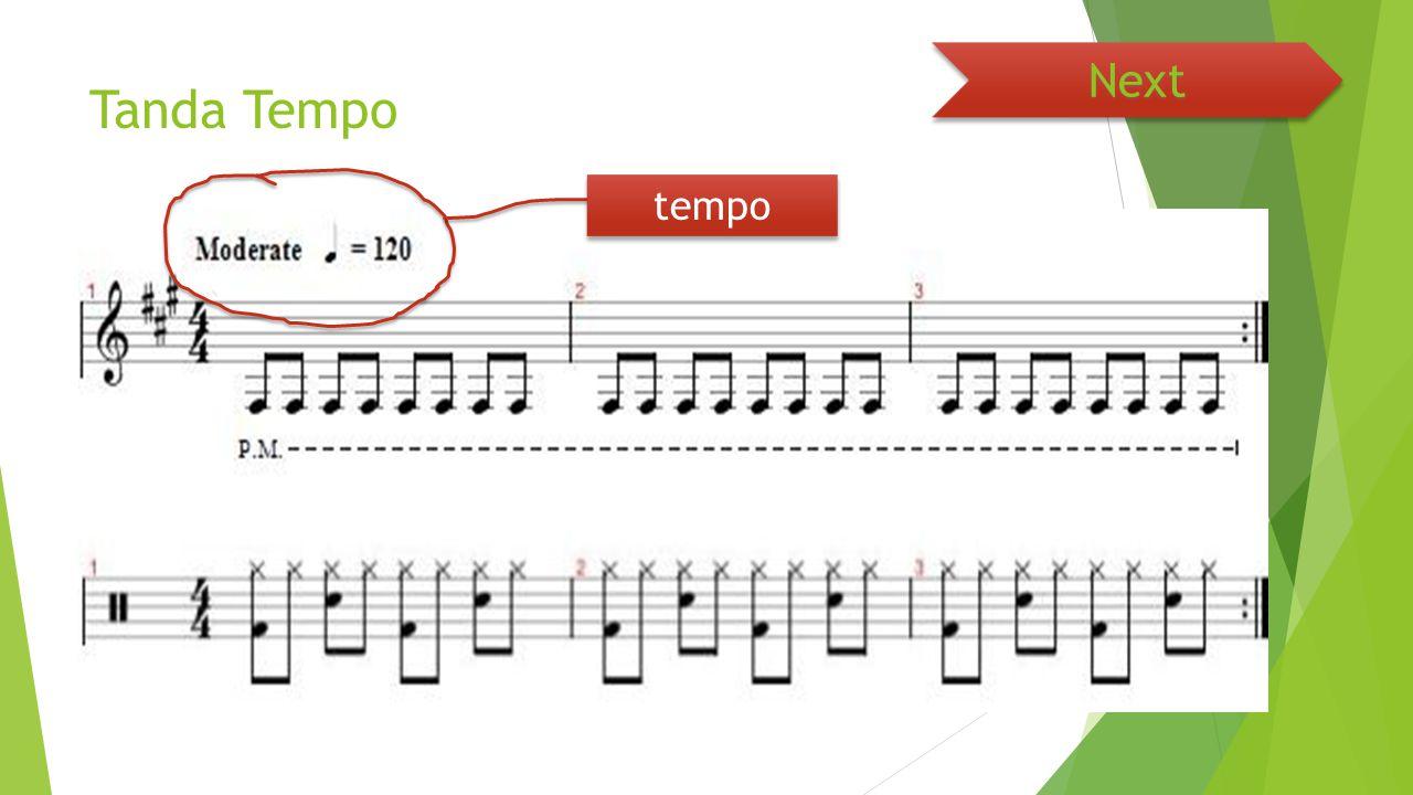 Next Tanda Tempo tempo