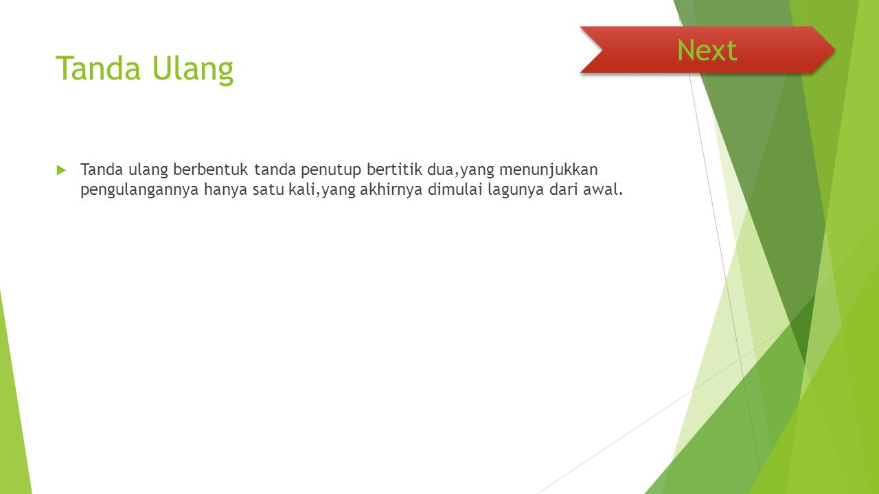 Next Tanda Ulang.