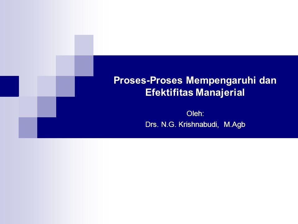 Proses-Proses Mempengaruhi dan Efektifitas Manajerial