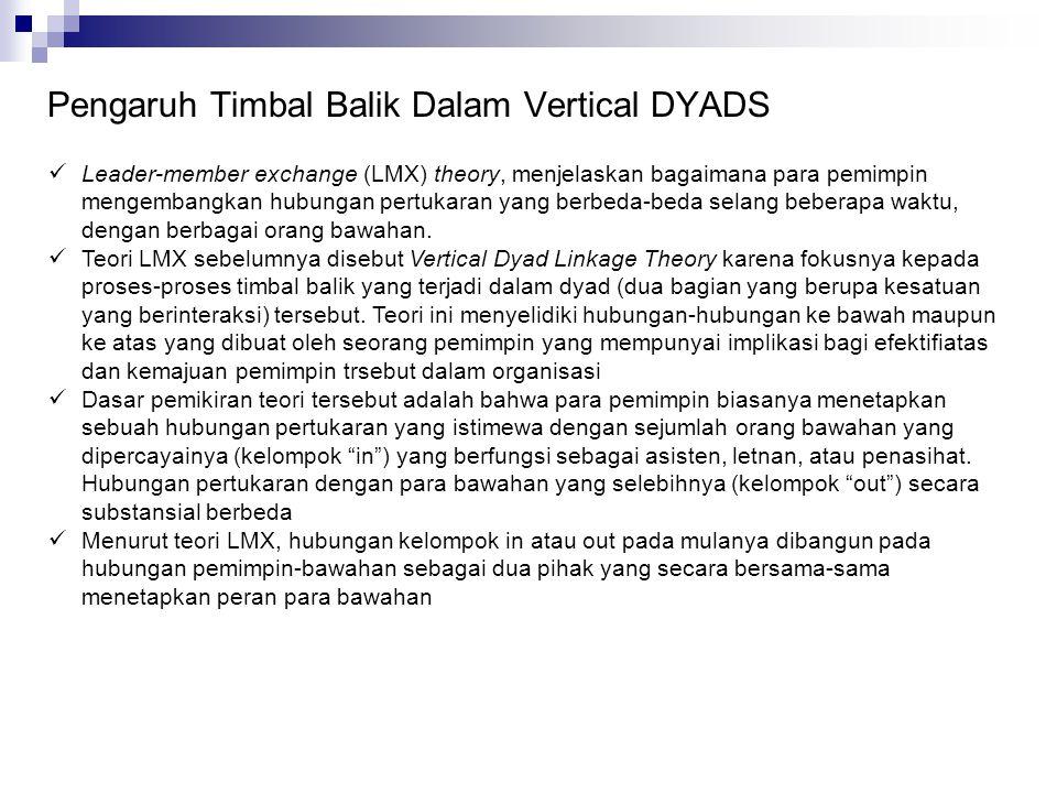 Pengaruh Timbal Balik Dalam Vertical DYADS