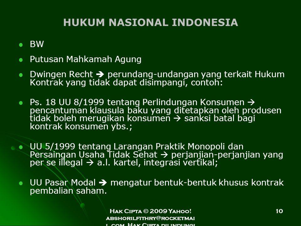 HUKUM NASIONAL INDONESIA