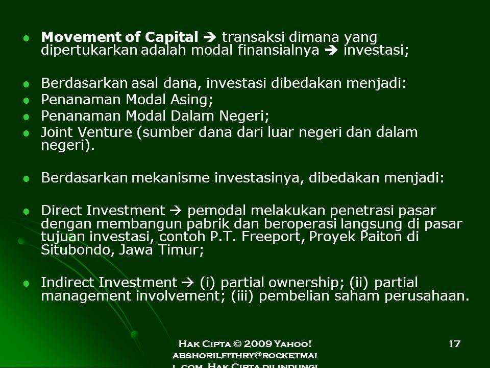 Berdasarkan asal dana, investasi dibedakan menjadi: