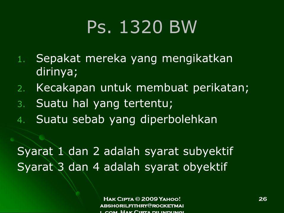 Ps. 1320 BW Sepakat mereka yang mengikatkan dirinya;