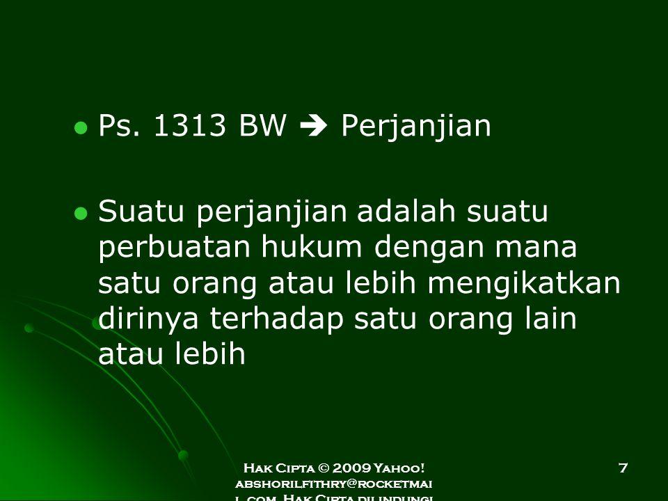 Ps. 1313 BW  Perjanjian
