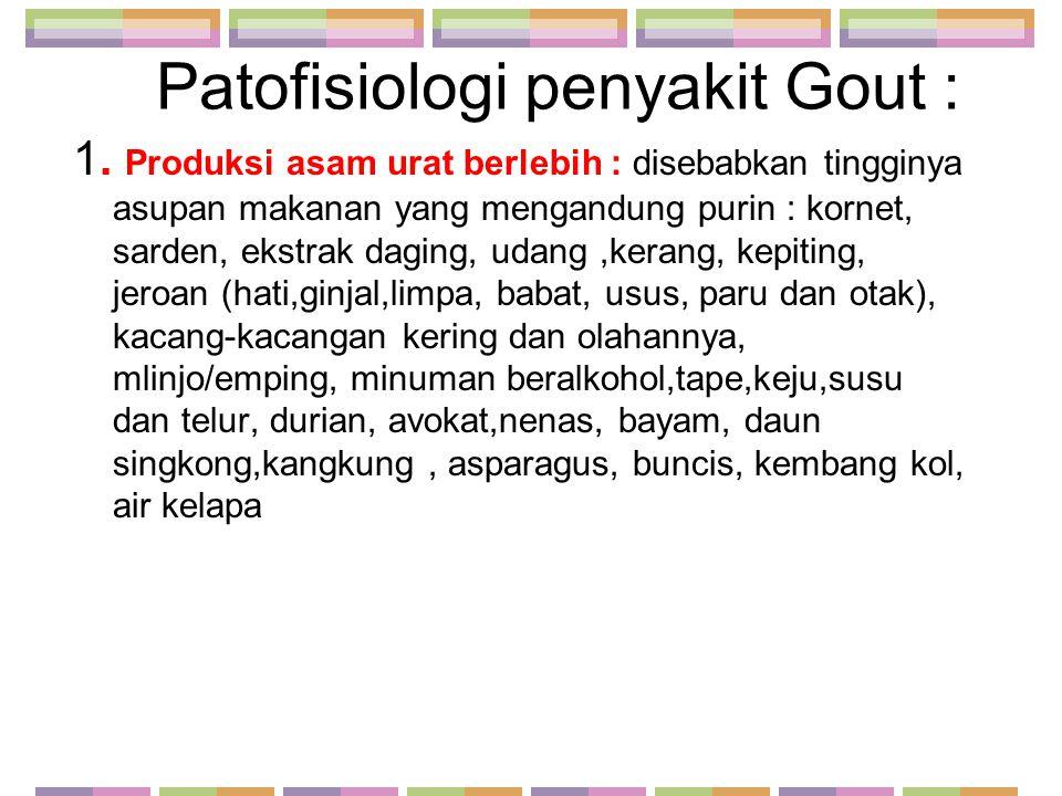 Patofisiologi penyakit Gout :