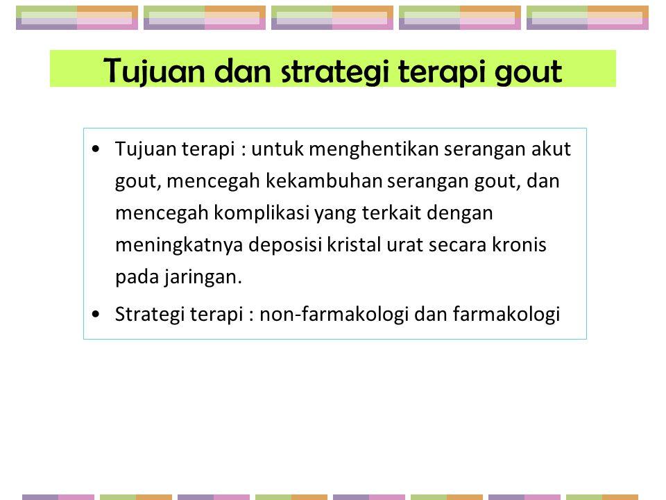 Tujuan dan strategi terapi gout