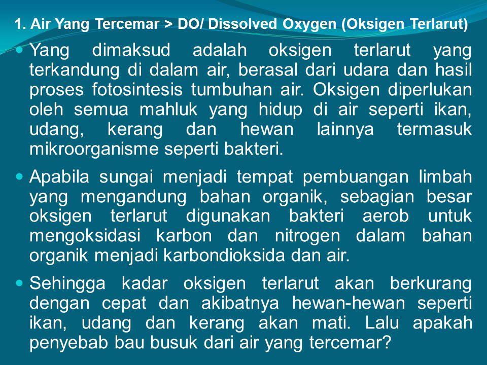1. Air Yang Tercemar > DO/ Dissolved Oxygen (Oksigen Terlarut)