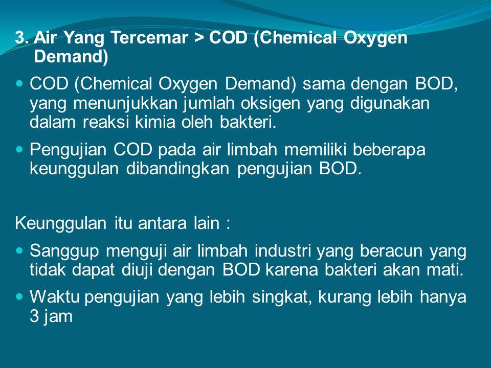 3. Air Yang Tercemar > COD (Chemical Oxygen Demand)