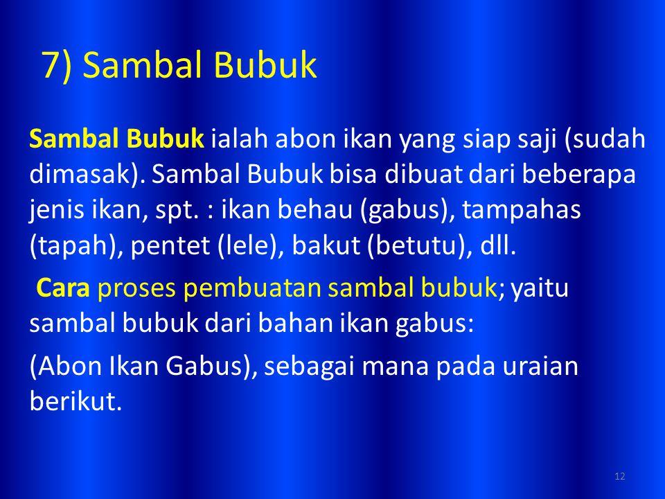 7) Sambal Bubuk