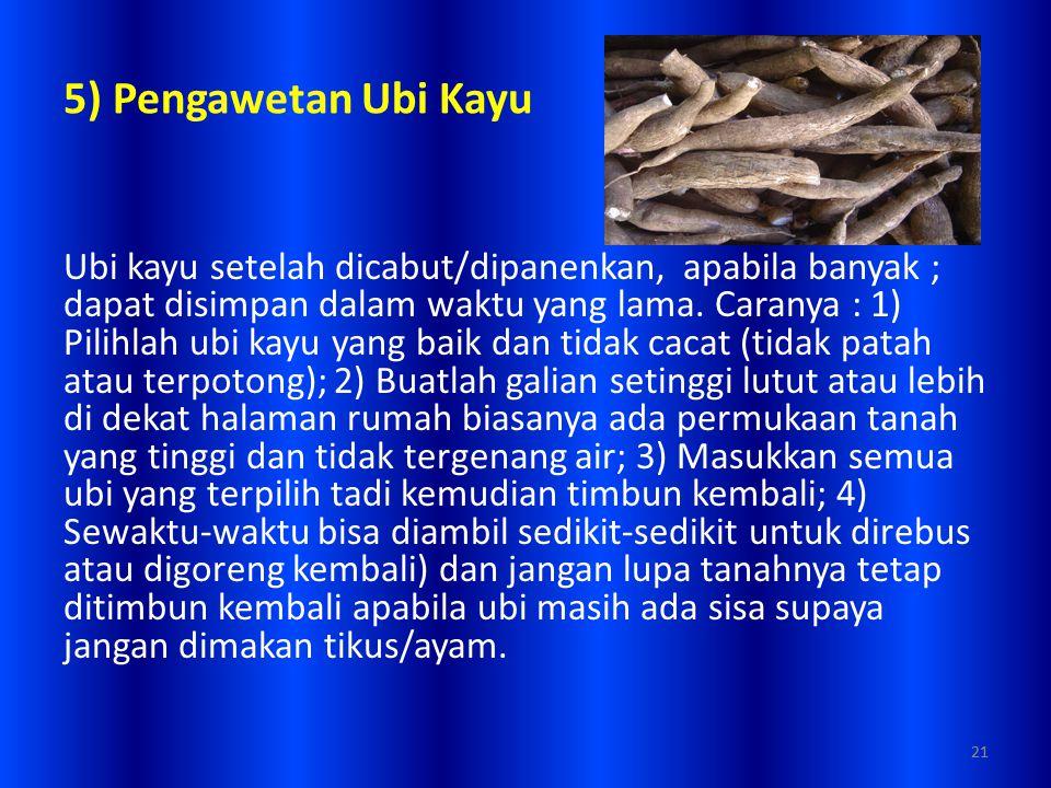 5) Pengawetan Ubi Kayu